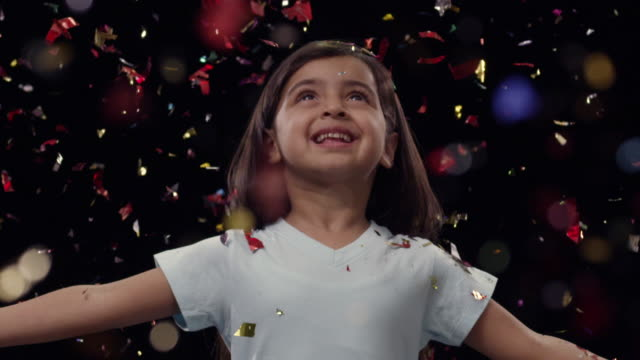 Girl celebrating success