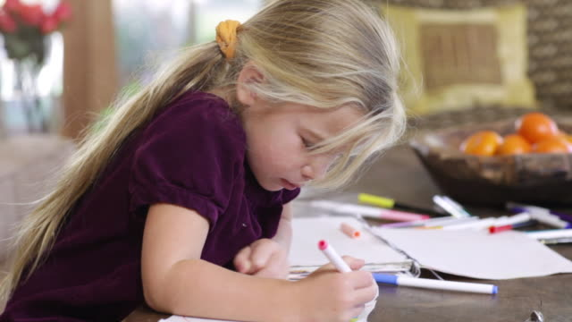 ms girl coloring  / lamy, new mexico, usa - lamy new mexico stock videos and b-roll footage