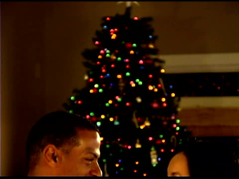 girl decorating christmas tree with ornament - see other clips from this shoot 1407 stock videos and b-roll footage