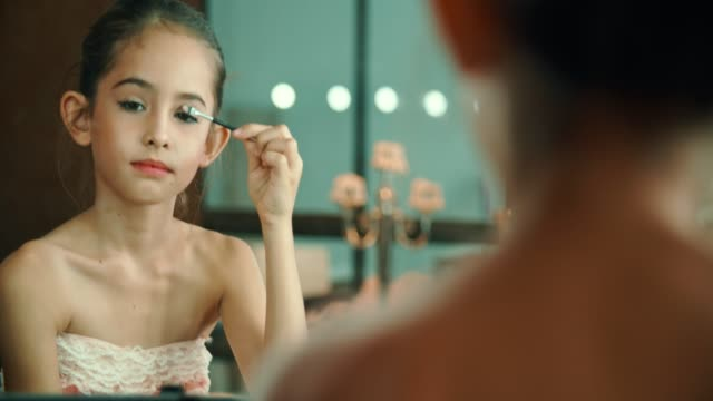 girl doing make-up at home - glamour stock videos & royalty-free footage