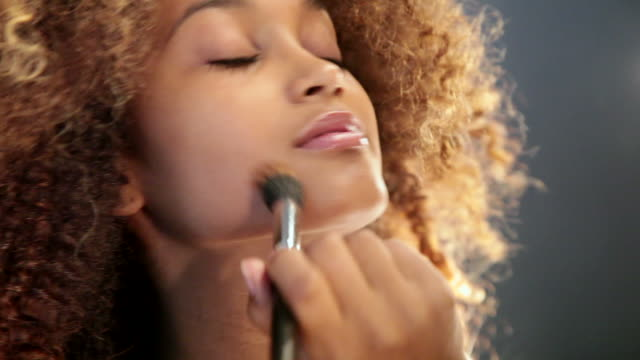 cu girl doing makeup in front of the mirror with her pet rat / copenhagen, sjaelland, denmark - only teenage girls stock videos & royalty-free footage
