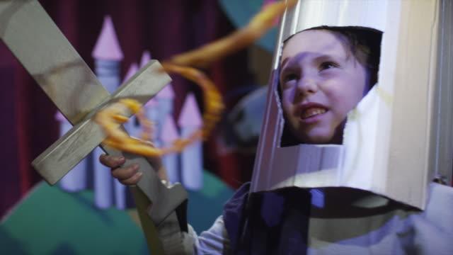 ms girl (6-7) dressed as knight / lehi, utah, usa - lehi stock videos & royalty-free footage