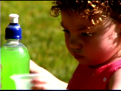 girl drinking - only baby girls stock videos & royalty-free footage