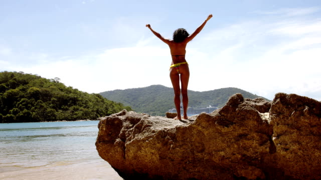 girl enjoying summer vacations - skin feature stock videos & royalty-free footage