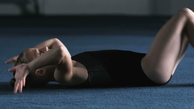 ms pan girl (8-9) exercising in gym, orem, utah, usa - orem utah stock videos & royalty-free footage