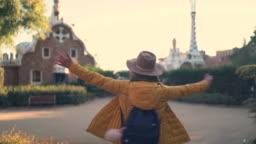 Girl exploring Spain