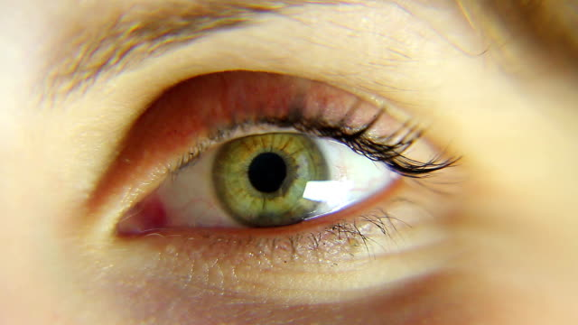 girl eye macro hd movie - eyeball stock videos and b-roll footage
