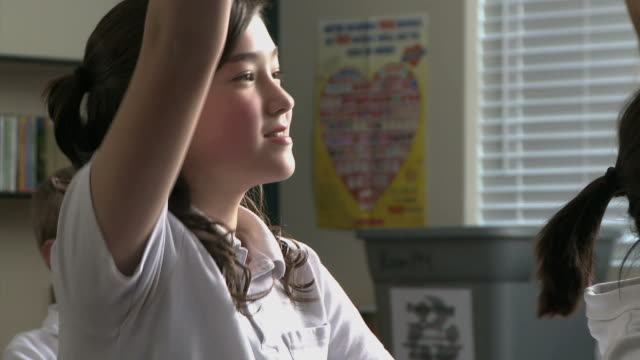 girl in a classroom - see other clips from this shoot 1148 stock videos & royalty-free footage