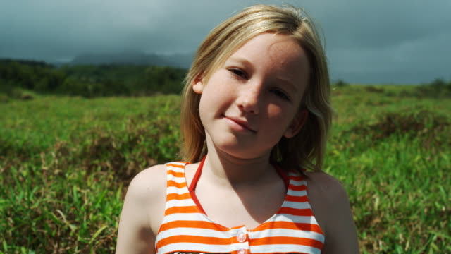 girl in a field - vest stock videos & royalty-free footage