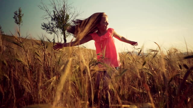 Girl in a grain field