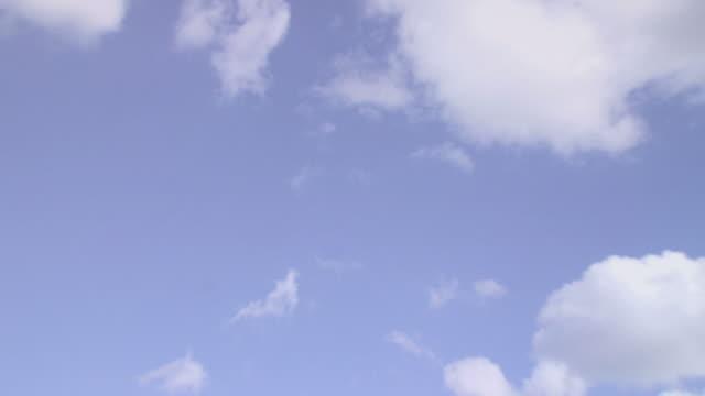 Girl in deckchair, zoom in to sky backdrop