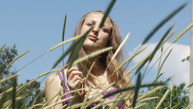 girl in field - fine art portrait stock videos & royalty-free footage