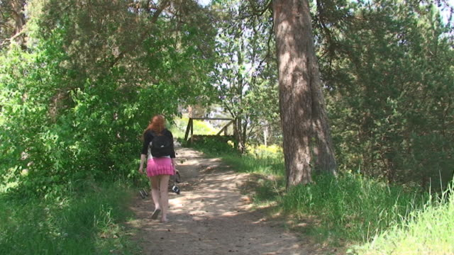 girl in forest - mini skirt stock videos & royalty-free footage