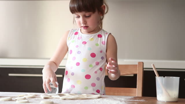 girl in the kitchen (hd) - one girl only stock videos & royalty-free footage
