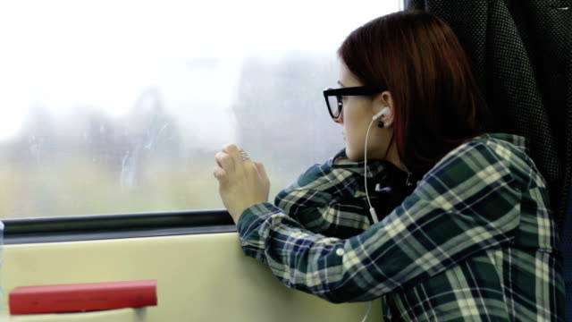girl in the train - enacting stock videos & royalty-free footage