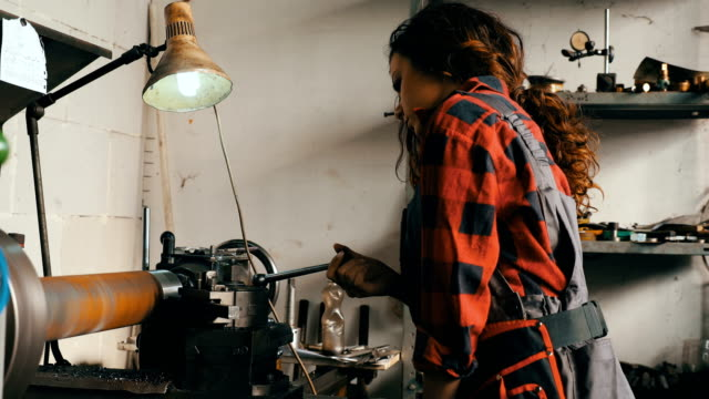 Girl in workshop