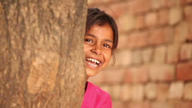 girl laughing, faridabad, haryana, india - インド人点の映像素材/bロール