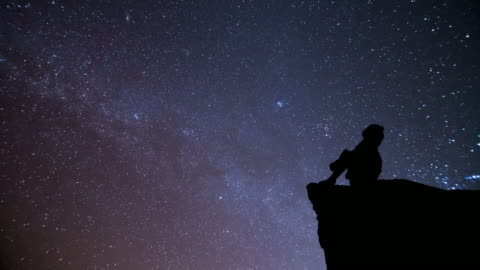 girl looking at night sky with meteor - sky only stock videos & royalty-free footage