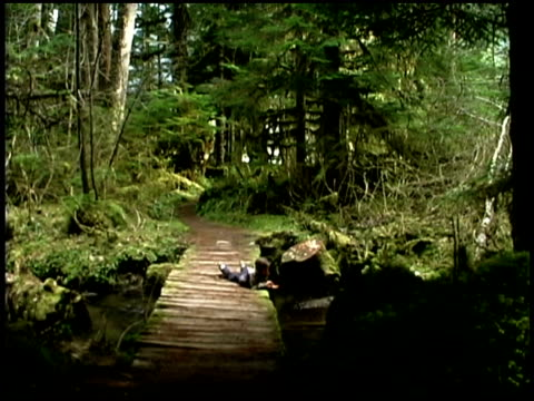 girl lying down by a river - mt rainier national park stock videos & royalty-free footage