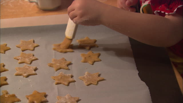 cu girl making cookies / near salzburg, austria - traditionally austrian stock videos & royalty-free footage