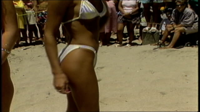 girl modeling white bikini - bikini stock videos & royalty-free footage