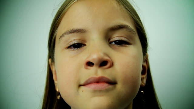 girl moving nose like a witch - nose stock videos & royalty-free footage