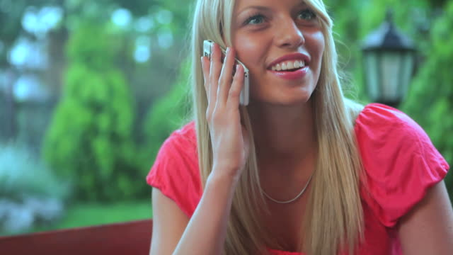 hd: girl on the phone - coffee drink stock videos & royalty-free footage