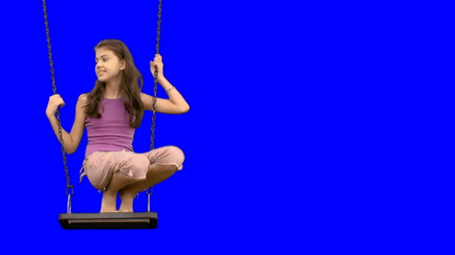 girl on the swing - swinging stock videos & royalty-free footage