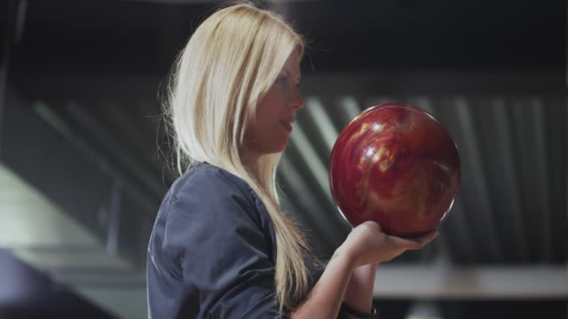 girl playing bowling - bowl stock videos & royalty-free footage