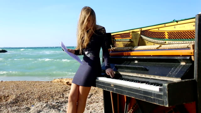 girl playing the piano - composer stock videos & royalty-free footage