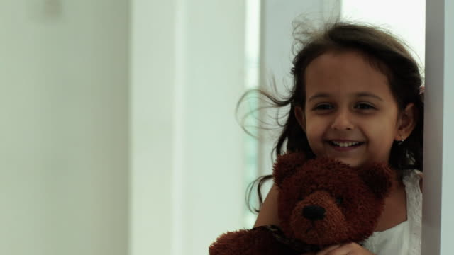 girl playing with a daughter  - teddy bear stock videos & royalty-free footage