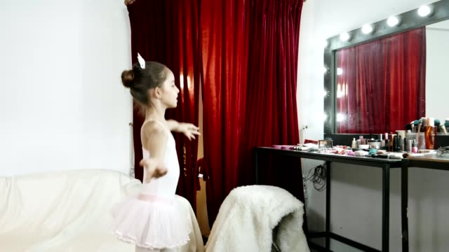 girl power : little ballerina wearing white tutus and dancing - 8 9 years stock videos & royalty-free footage