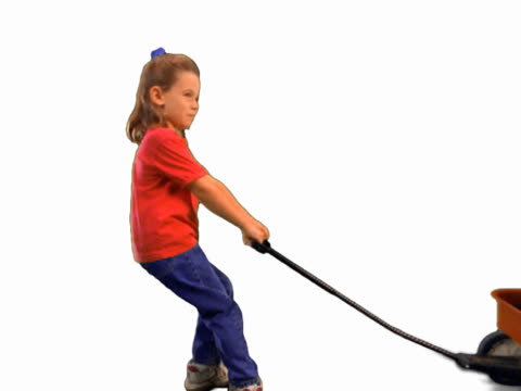girl pulling wagon with big dog in it - mpeg video format stock videos & royalty-free footage
