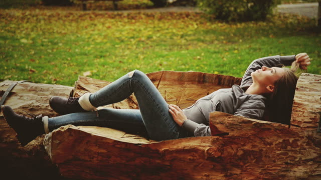 Girl resting at the park