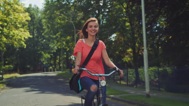girl riding bike - bicycle stock videos & royalty-free footage