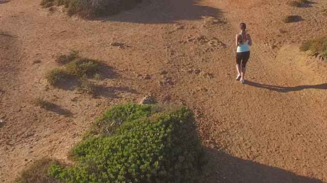 Girl running alone