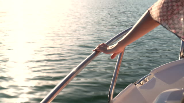girl sailing on a yacht - mediterranean culture stock videos and b-roll footage