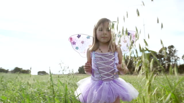 ms pov girl showing ladybug in hand at grassy field / los angeles, california, united states  - endast flickor bildbanksvideor och videomaterial från bakom kulisserna