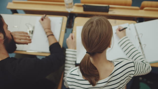 GIrl sitting in classroom