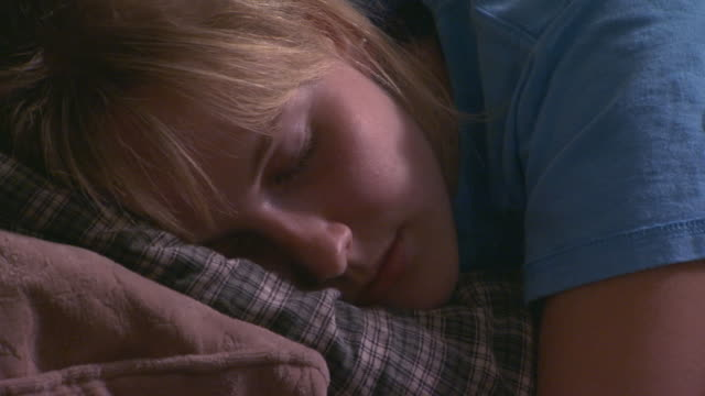 girl sleeping at a slumber party - slumber party stock videos and b-roll footage