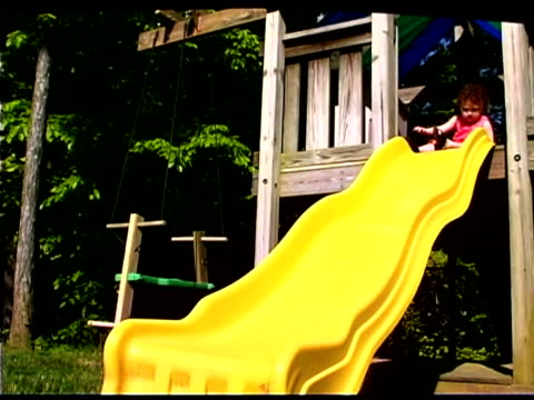 girl sliding - only baby girls stock videos & royalty-free footage