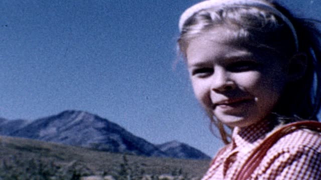 1962 girl smiling and waving - headband stock videos & royalty-free footage