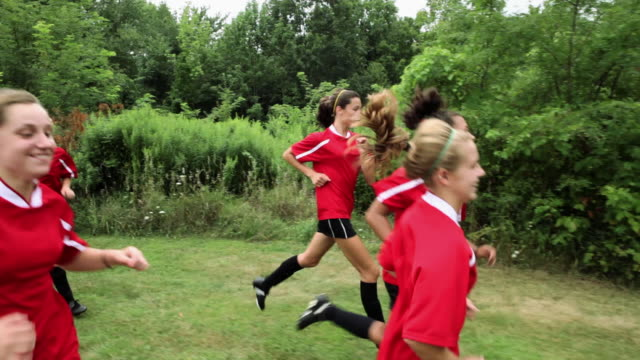 girl soccer players running - chatham new york state stock videos & royalty-free footage