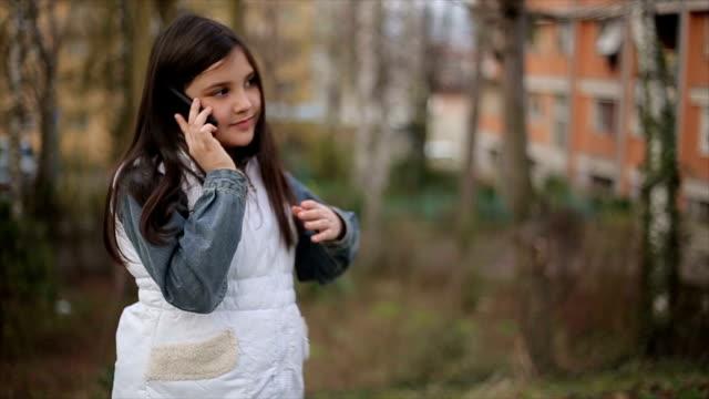 girl talking on mobile  phone