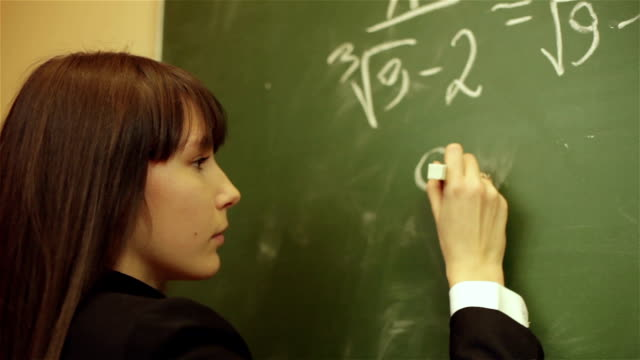 girl thinking about a math problem