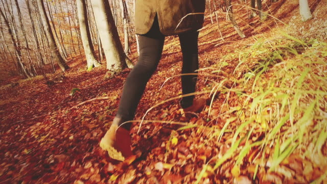 girl walking through the forest. slow motion. - teenagers only stock videos & royalty-free footage
