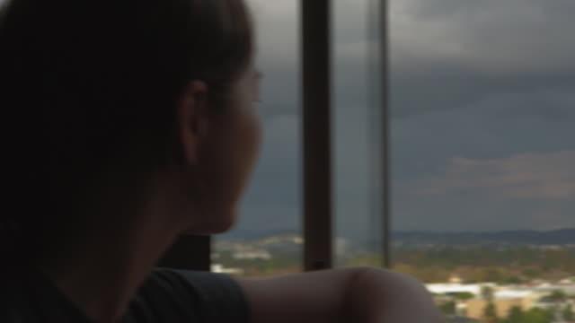 Girl watching LA Skyline #2