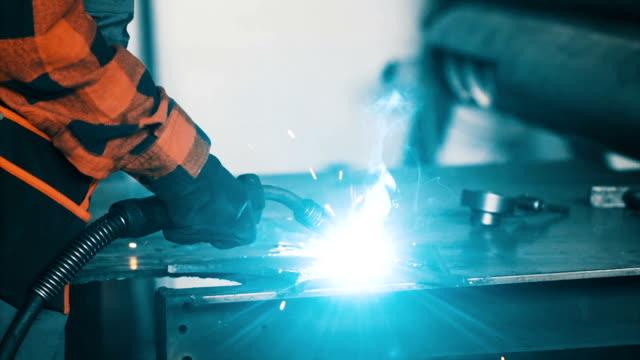 girl welder - welding stock videos and b-roll footage