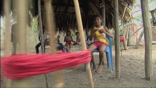ms girl winding up yarn / colombia - ball of wool stock videos & royalty-free footage