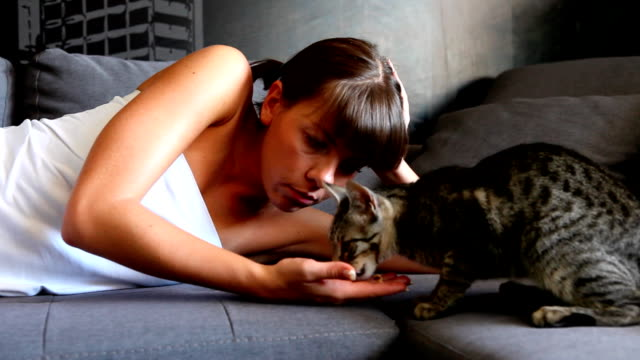 Girl with a cat (HD)